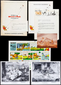 """Winnie the Pooh and the Blustery Day (Buena Vista, 1969). Presskit (9"""" X 12"""") and Uncut Pressbook (20 Pages, 1..."""