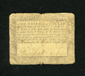 Colonial Notes:Maryland, Maryland August 14, 1776 $1/3 Very Good. J(ohn) Duckett's signatureremains, while the other has faded....
