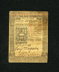 Colonial Notes:Pennsylvania, Pennsylvania October 1, 1773 50s Very Fine. Three strong signaturesremain on this note....