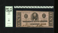 Confederate Notes:1863 Issues, T62 $1 1863. The trim accounts for the grade of this unc note. PCGSNew 61....