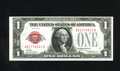 Small Size:Legal Tender Notes, Fr. 1500 $1 1928 Legal Tender Note. Choice Uncirculated. Natural paper wave, embossing, and a vivid red overprint on white p...