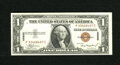 Small Size:World War II Emergency Notes, Fr. 2300 $1 1935A Hawaii Silver Certificate. Very Choice Uncirculated. Natural paper wave is found on this original note wit...