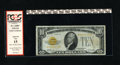 Small Size:Gold Certificates, Fr. 2400* $10 1928 Gold Star Certificate. Fine. Here is a scarce type note to find in any grade. This example is snappy whi...