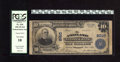 National Bank Notes:Kentucky, Ashland, KY - $10 1902 Plain Back Fr. 628 The Ashland NB Ch. #2010. Engraved signatures of R.R. Revill and Jno. E. Buck...