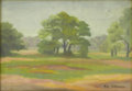 Fine Art - Painting, American:Contemporary   (1950 to present)  , MAX EACHOFEN (American). Quiet Trees. Oil on canvas. Signed lowerleft. Signed verso to canvas. ...
