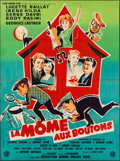 """Movie Posters:Foreign, La Mome aux Boutons (Glob Omnium Films, 1958). French Grande (46.5"""" X 63"""") and French Affiche (22.75"""" X 31.25""""). Foreign.. ... (Total: 2 Items)"""