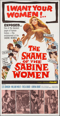 """The Shame of the Sabine Women (United Producers, 1962). Three Sheet (41"""" X 79""""). Foreign"""