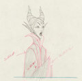 Animation Art:Color Model, Sleeping Beauty Maleficent Color Model Drawing (Walt Disney,1959)....