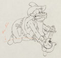 Animation Art:Production Drawing, Two-Gun Mickey Peg-Leg Pete and Mickey Animation Drawing(Walt Disney, 1934)....