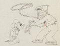 Animation Art:Production Drawing, Mickey's Gala Premier Mickey Mouse and Will Rogers AnimationDrawing (Walt Disney, 1933)....