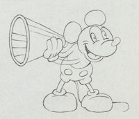 Around the World in 80 Minutes Mickey Mouse Animation Drawing (Walt Disney/Elton Corp., 1931)