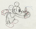 Animation Art:Production Drawing, The Worm Turns Mickey Mouse Animation Drawing (Walt Disney,1937)....