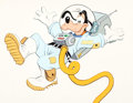 Animation Art:Production Drawing, Astronaut Goofy Illustration (Walt Disney, c. 1970-80s)....
