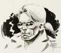 Original Comic Art:Illustrations, Adam Kubert - Johnny Blaze Commission Illustration Original Art (1992)....