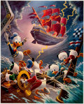 Memorabilia:Disney, Carl Barks Afoul of the Flying Dutchman Signed Limited Edition Lithograph Print #216/345 (Another Rainbow, 1985)....
