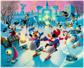 Memorabilia:Disney, Carl Barks Mardi Gras Before the Thaw Signed Limited Edition Lithograph Print #218/350 (Another Rainbow, 1992)....