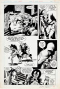 Original Comic Art:Panel Pages, Frank Brunner and Bruce Patterson Warp #5 Story Page 12 Original Art (First Comics, 1983)....