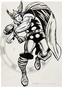 MMMS Thor Poster Production Materials (Marvel, 1966).... (Total: 2 Items)