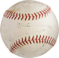 Baseball Collectibles:Balls, 1936 New York Yankees Team Signed Baseball....