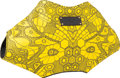 "Luxury Accessories:Bags, Alexander McQueen Yellow Printed Fabric De-Manta Clutch Bag.Pristine Condition. 15"" Width x 8"" Height x 2"" Depth...."
