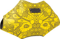 "Alexander McQueen Yellow Printed Fabric De-Manta Clutch Bag Pristine Condition 15"" Width x 8"" Hei"