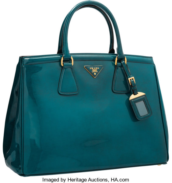 d765233cf576 Luxury Accessories:Bags, Prada Teal Patent Leather Tote Bag. Excellent to  PristineCondition.