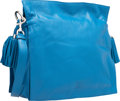 """Luxury Accessories:Bags, Loewe Blue Nappa Leather Flamenco 30 Bag. Very Good to ExcellentCondition. 11"""" Width x 11"""" Height x 4"""" Depth. ..."""