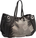 "Luxury Accessories:Bags, Valentino Black Leather Beaded Tote Bag . PristineCondition. 17"" Width x 13"" Height x 6"" Depth. ..."