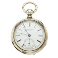 Timepieces:Pocket (pre 1900) , Illinois 15 Jewel Private Label Key Wind Pocket Watch. ...