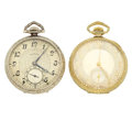 Timepieces:Pocket (post 1900), Two Illinois 21 Jewels Open Face Pocket Watches. ... (Total: 2 Items)