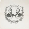 Political:Textile Display (1896-present), Roosevelt & Fairbanks: Jugate Bandanna....