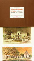 Books:Art & Architecture, [Texana]. E.M. Schiwetz. Robert S. Weddle, historical notes. Six Spanish Missions in Texas. A Portfolio of Paintin...