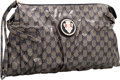 "Luxury Accessories:Bags, Gucci Blue Crystal GG Canvas Hysteria Clutch Bag. PristineCondition. 15"" Width x 10"" Height x 2"" Depth. ..."