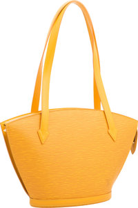 "Louis Vuitton Yellow Epi Leather St. Jacques PM Tote Bag Very Good to Excellent Condition 9"" Widt"