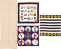 """Luxury Accessories:Accessories, Chanel Set of Four; Multicolor Silk & Cashmere Scarves.Excellent Condition. 33"""" Width x 33"""" Length. ...(Total: 4 Items)"""