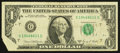 Error Notes:Foldovers, Fr. 1907-G $1 1969D Federal Reserve Note. Fine.. ...
