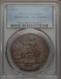 Trade Dollars, 1874 T$1 -- Smoothed -- PCGS Genuine. AU Details. NGC Census:(5/115). PCGS Population (10/136). Mintage: 987,100. Numismed...