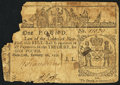 Colonial Notes:New York, New York February 16, 1771 £1 Fine, damaged.. ...