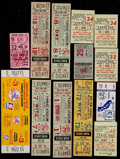 Baseball Collectibles:Tickets, 1955-79 New York Yankees Full Tickets and Stubs Lot of 13....