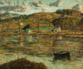 Fine Art - Painting, American:Modern  (1900 1949)  , Ernest Lawson (American, 1873-1939). Sunlight on the HarlemRiver, 1919. Oil on canvas. 25 x 30 inches (63.5 x 76.2 cm)...