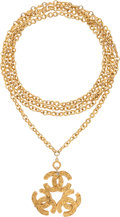 "Luxury Accessories:Accessories, Chanel Gold CC Medallion Necklace. Excellent Condition. 2"" Widthx 58"" Length. ..."