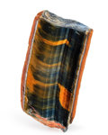Lapidary Art:Carvings, Tiger's Eye Slab. Mt. Brockman Station. Pilbara. WesternAustralia. 3.12 x 1.66 x 0.62 inches (7.93 x 4.21 x 1.57 cm)....