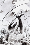 Original Comic Art:Miscellaneous, Mike Dubisch ZVR Diplomacy - Whip-Wielding Nun IllustrationOriginal Art (IDW, 2013)....
