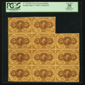 Fractional Currency:First Issue, Fr. 1230 5¢ First Issue Sheet of Eleven Notes PCGS Apparent VeryFine 30.. ...