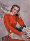 Pulp, Pulp-like, Digests, and Paperback Art, Harry Anderson (American, 1906-1996). Christmas, probablemagazine cover, 1937. Oil on canvas. 20 x 15.25 in.. Signedv...