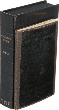 [Map]. Previously Unrecorded Overland Guide and Pocket Map of the United States. [San Francisco]: E. A. Taylor, [1859
