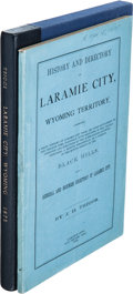 Books:Americana & American History, J. H. Triggs. History and Directory of Laramie City, WyomingTerritory, Comprising a Brief History of Laramie City From ...