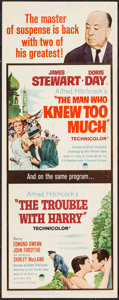 "The Trouble with Harry/The Man Who Knew Too Much Combo (Paramount, R-1963). Insert (14"" X 36""). Hitchcock"