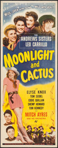 "Movie Posters:Musical, Moonlight and Cactus (Universal, 1944). Insert (14"" X 36""). Musical.. ..."