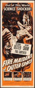 "Movie Posters:Science Fiction, Fire Maidens of Outer Space (Topaz, 1956). Insert (14"" X 36"").Science Fiction.. ..."